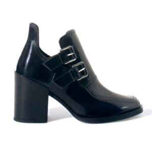 ZARA Chunky Patent Leather Booties